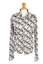 Vintage Mad People Shirt Long Sleeve Designer Casual Tops Chest L Multi - LB228
