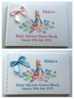 PERSONALISED PETER RABBIT  BABY SHOWER GUEST BOOK / SCRAPBOOK MEMORY ALBUM