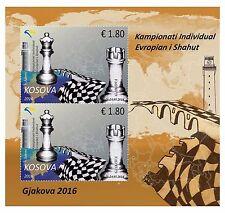Kosovo 2016. European Individual Chess Championship. Souvenir sheet Block MNH