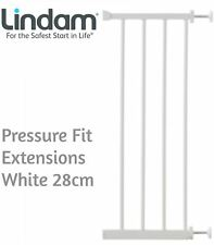 Lindam PRESSURE FIT EXTENSIONS WHITE 28CM Safety Stair Gate BN