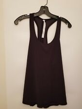Lululemon Two With One Singlet NWT SZ 10 Black Color Racerback Tie Back