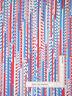All American Patriotic Light Red Blue Stripe Cotton Fabric Benartex By The Yard