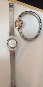 Bulk Lot 2 Bulova Watches For Repair Or Parts