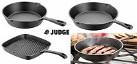 Judge Cast Iron Griddle or Skillet Fry Pan, Various Sizes