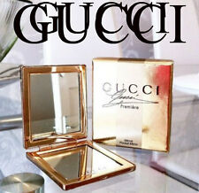 100%AUTHENTIC Ltd Edition GUCCI GOLD COUTURE MAKEUP HANDBAG TRAVEL DOUBLE MIRROR