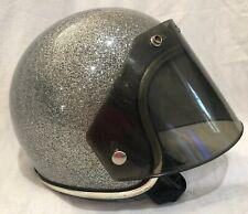 ARTHUR FULMER AF20 / AF40 ? METALLIC SILVER FLAKE GLITTER FACE GUARD Shield Sm $