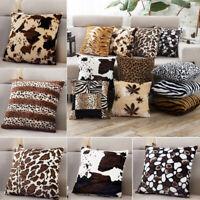 Zebra Leopard Print Pillow Case Waist Throw Cushion Cover Home Car Decoration