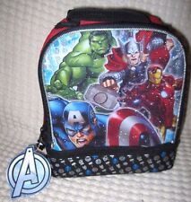 AVENGERS CAPTAIN AMERICAN,IRONMAN,THOR,HULK DOME LUNCHBOX LUNCH BAG-BRAND NEW!