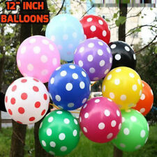 "10-50 12"" LARGE POLKA DOT Balloons Party Decorations Wedding Birthday baloons"