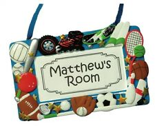 PERSONALIZED ROOM DOOR PLAQUE FOR BOYS - JEANE'S THINGS