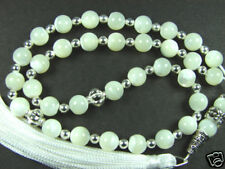 8mmx33 WHITE MOTHER of PEARL BEADS ISLAMIC GIFT TASBIH