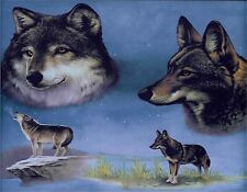 WOLVES WOLF  MOUSE PAD  IMAGE FABRIC TOP RUBBER BACKED