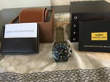 Breitling Professional Chronospace Milatary Blacksteel editionMilitaryGreenStrap