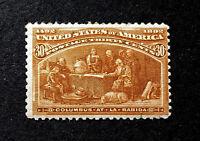 Scott US # 239 - 1893 Columbians, 30 cents; Mint Lightly Hinged, OG; CV=$225