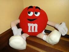 """Red Plush M&M by Nanco 12"""" Loop For Hanging Tush Tags"""
