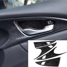 4x Carbon Side Door Handle Bowl Cover Trim Fits Honda Civic 10th Gen 2016 2017
