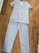 'CHAMLLYMERS'  COTTON PYJAMAS WITH LONG PANTS & S/S TOP. GREY. SMALL(8-10). BNWT