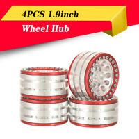 4PCS 1.9inch Wheel Hub Beadlock Metal Rim for 1/10 SCX10 Traxxas TRX-4 RC Car