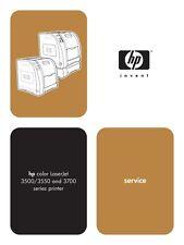 HP Color LaserJet 3500 / 3550 / 3700 Series Service Manual(Parts & Diagrams)