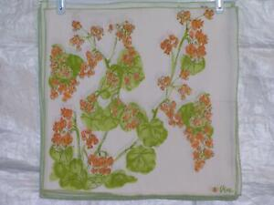Vera Neumann Ladybug Orange Bleeding Heart Clusters Round Leaves Napkins 7/set