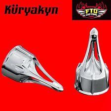 Kuryakyn Chrome Roman Axle Caps for Touring, Softails, Dynas & Sportster 1225