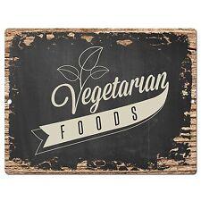 PP0405 Rust VEGETARIAN FOODS Sign Store Shop Cafe Restaurant Home Market Decor