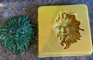 Flexible PVC mould for Making this small tree face plaque