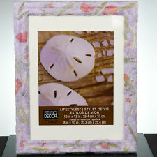 Decoupage Picture Frame- Great Gift - Pastel, Handmade Paper, Real Dried Flowers