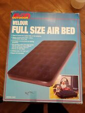 Inflatable Full Size Velour Top Air Mattress Bed. New.