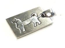 Bijou acier pendentif signe astrologique chinois chien pendant