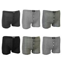 6 Pack Mens Classic Cotton Rich Assorted Patterned Boxer Short Trunks Underwear