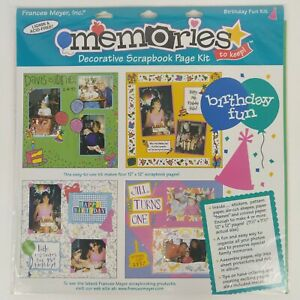 Memories Scrapbook Page Kit Frances Meyer 12x12 Paper Family Happy Birthday Fun