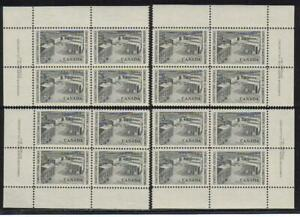 1964 Canada SC# 431 Charlottetown Confer. Plate # 1 Plate Blocks of 4 M-NH # 276