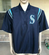 Vintage Seattle Mariners Majestic Authentic  Windbreaker Rain Jacket Size Large
