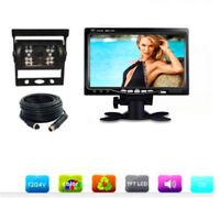 """7"""" 12-24V Car Reversing Camera Kit Sunshade Monitor + 4pin CCD IR Backup Camera"""