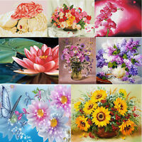DIY 5D Diamond Painting Flower Embroidery Art Craft Kit Cross Stitch Home Xmas
