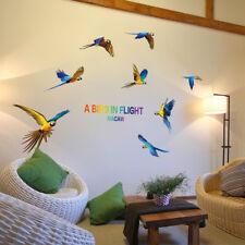 Wall Sticker A Bird IN Flight Macaw Art Vinyl Home Room Decor Decal Mural DIY