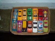 A JOB LOT OF 14 VARIOUS CARS MADE BY MATCHBOX & CORGI USED CON'D VINTAGE