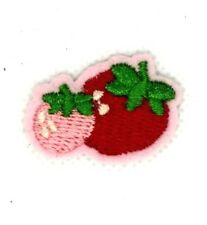 STRAWBERRIES  - FRUIT - BERRY - FOOD - Iron On Embroidered Patch 156