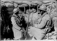World War 1 French Army Soldiers Trench Argonne 1915, 7x5 Inch Reprint Photo R