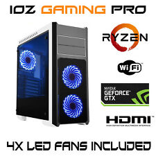 AMD RYZEN 3 Nvidia GTX 1060 Custom BUILT RGB LED TOWER GAMING COMPUTER DESKTOP