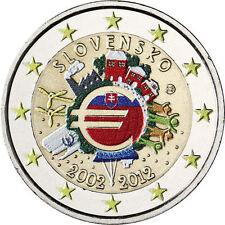 Coin / Munt Slowakije - Slovakia 2012 Ten Years of Euro Collor