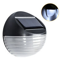 LED Outdoor Solar Powered Waterproof Wall Garden Fence Security Pathway Lamp