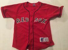 RUSSELL MLB BOSTON RED SOX JOHNNY DAMON YOUTH JERSEY SIZE MEDIUM M (10-12)