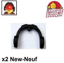 Lego - 2x Minifig headgear casque écouteur headphone noir/black 14045 NEUF