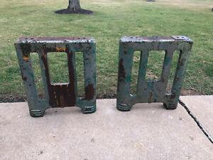Vintage Cast Iron Table Legs Machine Age Industrial Art Deco Steampunk Decor Old