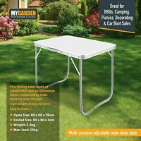 2.6 FT FOLDING CAMPING TABLE ALUMINIUM PICNIC PORTABLE PARTY BBQ OUTDOOR UK