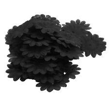 200x Black Daisy Artificial Flower Heads for Diy Wedding Party Daisy Petals