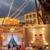 Outdoor String Lights Globe Patio Lights Bulb Hanging Patio Room Christmas Decor