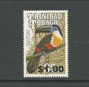 Trinidad and Tobago 2012 Bird Overprint: $1 on 1990 $2.25 Toucan, MNH.  SG1194
